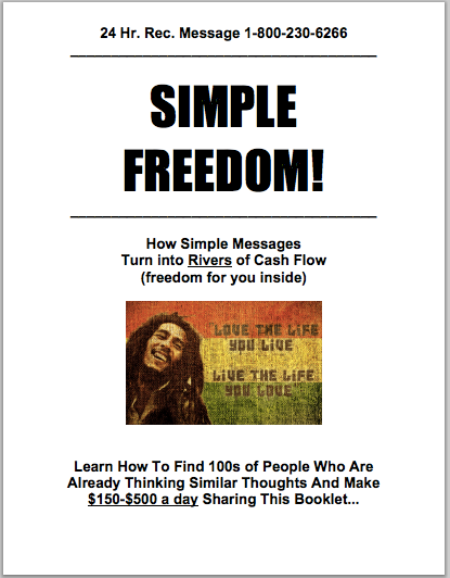 Simple Freedom Booklet